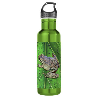 FROG IN THE RAIN WATER BOTTLE