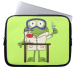 Frog in the Science Lab Laptop Sleeves