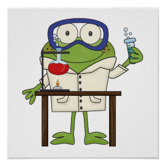 Frog in the Science Lab Poster