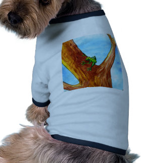 Frog in the tree doggie tee shirt