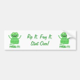 Frog It! Vector Crochet Frog Bumper Sticker