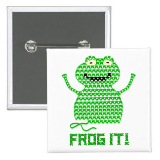 Frog It! Vector Crochet Frog Pins