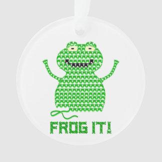 Frog It! Vector Crochet Frog Ornament