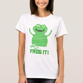 Frog It! Vector Crochet Frog T-Shirt