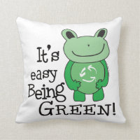 Frog It's Easy Being Green Pillow