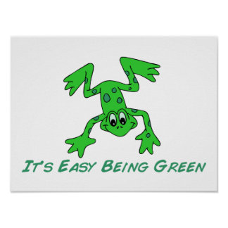 Frog It's Easy Poster