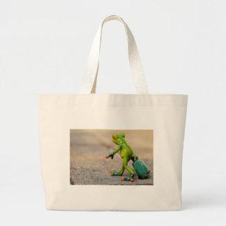 Frog journey large tote bag