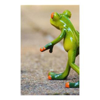 Frog journey stationery