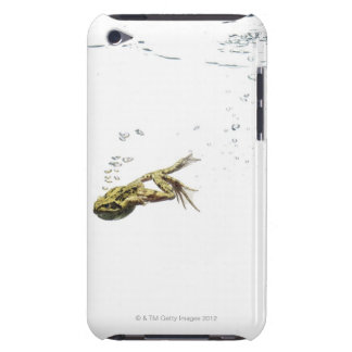 frog jumping and diving into the water barely there iPod case