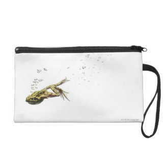 frog jumping and diving into the water wristlet