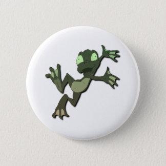 Frog Jumping Pinback Button