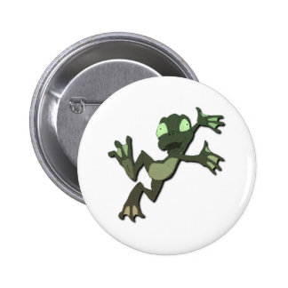 Frog Jumping Pinback Buttons