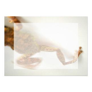frog jumping towards left side animal amphibian personalized invite