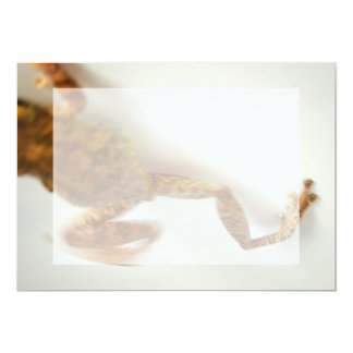 frog jumping towards left side animal amphibian personalized invite