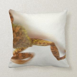 frog jumping towards left side animal amphibian pillow