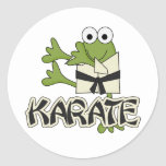 Frog Karate Tshirts and Gifts Round Stickers
