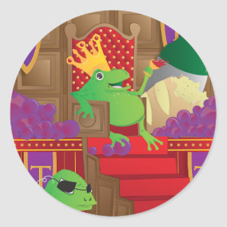 Frog King Classic Round Sticker