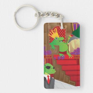 Frog King Rectangular Acrylic Key Chain