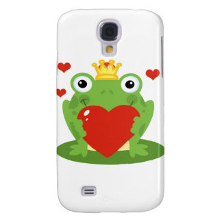Frog King with Heart Galaxy S4 Cases