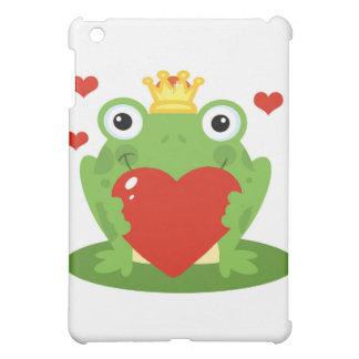 Frog King with Heart iPad Mini Covers