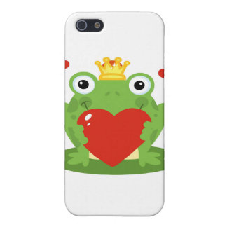 Frog King with Heart iPhone 5 Case