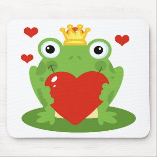 Frog King with Heart Mousepad