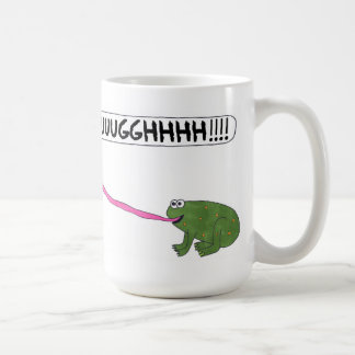 Frog Kisses Forever! (Hand Color Mug) (Option #2) Coffee Mug