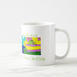 FROG LEAF SOFA DRIFTING HUMOROUS Mug