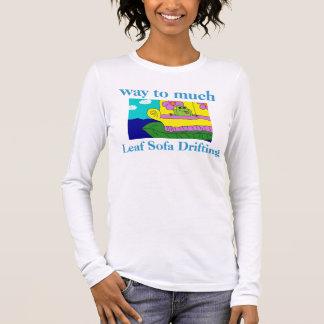 FROG LEAF SOFA DRIFTING HUMOROUS Shirts Tees