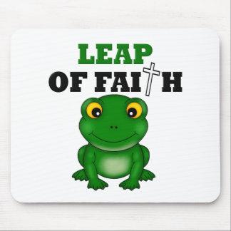 Frog Leap Of Faith Mousepads