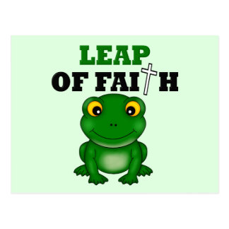 Frog Leap Of Faith Postcard