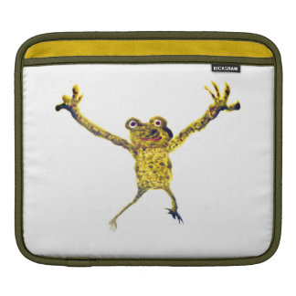 Frog Leaping Funny Animal Art Sleeve For iPads