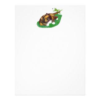 Frog Leaps over Calico Kitten's Tail Letterhead