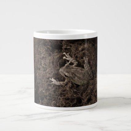 frog left on moss sepia tone jumbo mug