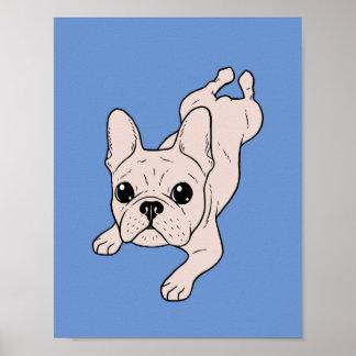 Frog Leg Cream French Bulldog Poster