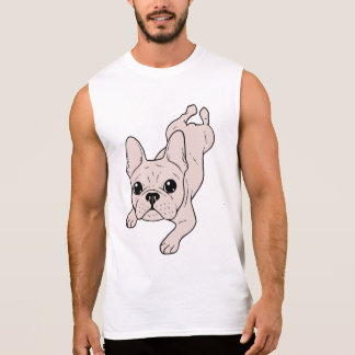 Frog Leg Cream French Bulldog Sleeveless Shirt