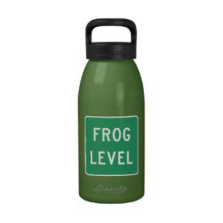 Frog Level, Road Marker, Virginia, USA Reusable Water Bottle