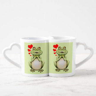 Frog Love Drawing Coffee Mug Set