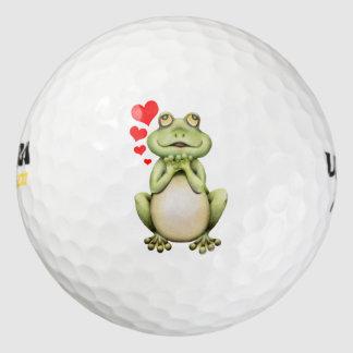 Frog Love Drawing Golf Balls