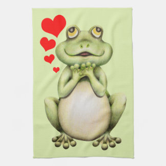 Frog Love Drawing Kitchen Towel