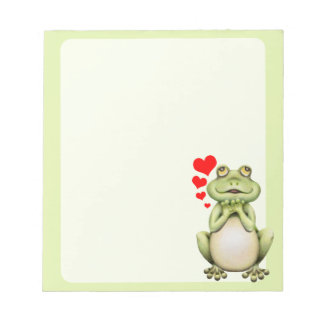 Frog Love Drawing Notepad