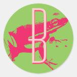 Frog Love monogram sticker