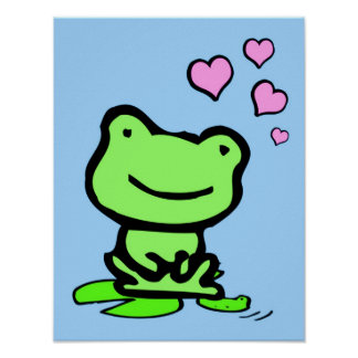 Frog Love Poster