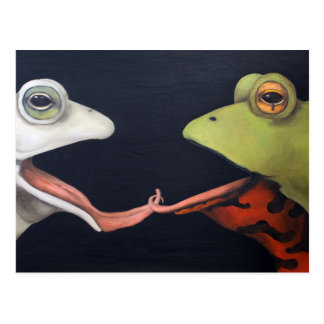 Frog Love -- The French Kiss Post Card