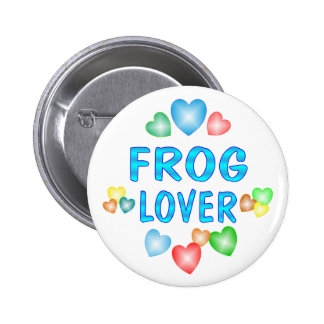 FROG LOVER PINBACK BUTTON
