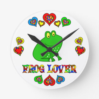 Frog Lover Round Clock
