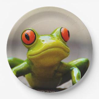 Frog macro paper plate