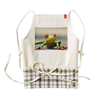 Frog macro zazzle HEART apron