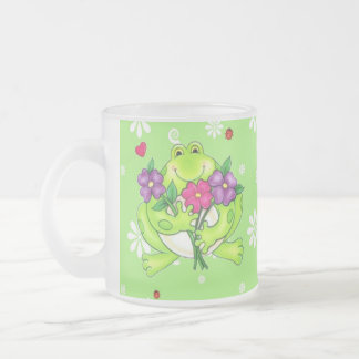 Frog Merchandise Gifts Frosted Glass Coffee Mug