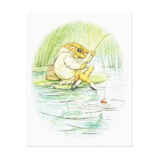 FROG, MR.JEREMY fisher, ANIMAL Stretched Canvas Prints